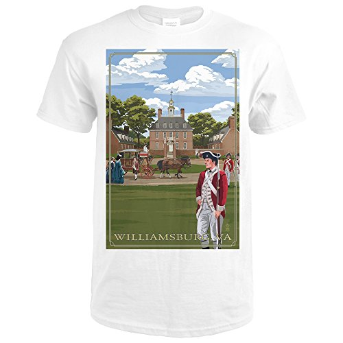 Governor's Palace - Williamsburg, Virginia (Premium White T-Shirt - Williamsburg Premium