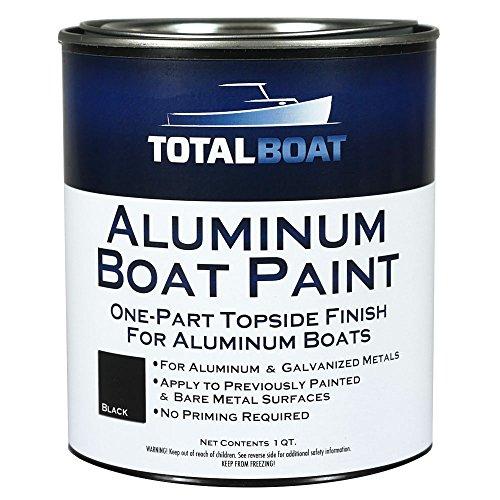 TotalBoat Aluminum Boat Paint (Black, Quart) (Best Boat Bottom Paint For Freshwater)