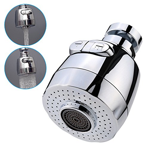 3New 360°Swivel Water Saving Tap Aerator Nozzle Filter Water Saving Tap Diffuser Kitchen Accessories (Short) (Nozzle Swivel)