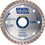 Irwin IW13893, Disco Diamantado Turbo Standard 110 x 20 mm, Prata