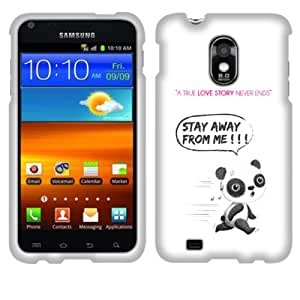 Fincibo (TM) Protector Cover Case Snap On Hard Plastic Front And Back For Samsung Epic 4G Touch D710 R760 - Female Panda Chasing Love