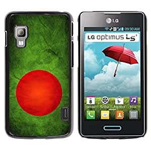 Graphic4You Vintage Bangladeshi Flag of Bangladesh Design Thin Slim Rigid Hard Case Cover for LG Optimus L5 II