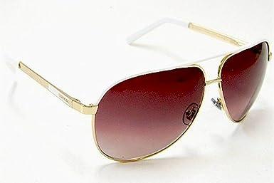 6e0936cb088 Gucci GG 1827 S 1827S BNC YU Gold White Aviator Sunglasses 63mm  Amazon.ca   Clothing   Accessories