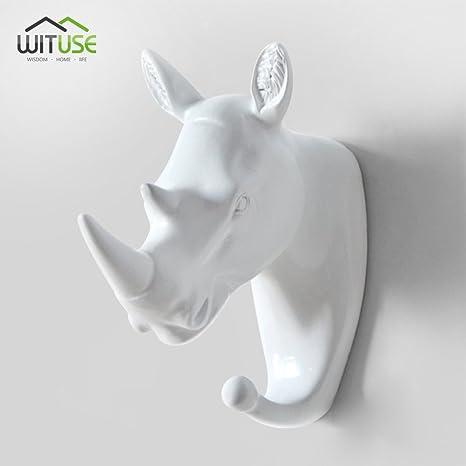 Amazon.com: YCDC - Perchero de pared de resina, diseño de ...