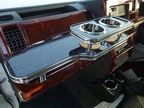 数量限定  S500系ハイゼットトラック フロントテーブル ブラックウッド 携帯ホルダー運転席側 ブラックフルメッキ B017U76WY8
