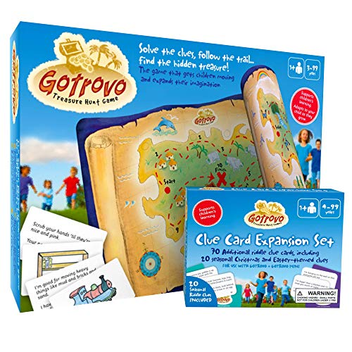 Gotrovo Bumper Edition Scavenger Hunt for Kids of All Ages - This Fun Treasure Hunt Game is Perfect Birthday Party, Play Date and Sibling Entertainment. Use Indoor, Outdoor, at Home, in The Garden