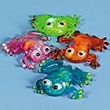 Flashing Squishy Frogs (1 dz)