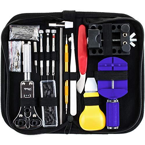 Vastar 147 PCS Watch Repair Kit Professional Spring Bar Tool Set, Watch Band Link Pin Tool Set with Carrying Case ()