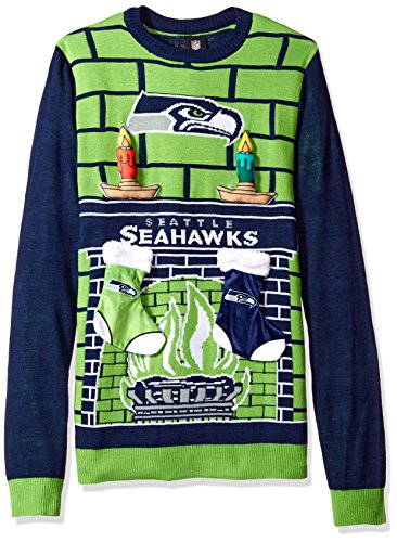 Forever Collectibles NFL Seattle Seahawks Ugly 3D Sweater, XX-Large by Forever Collectibles