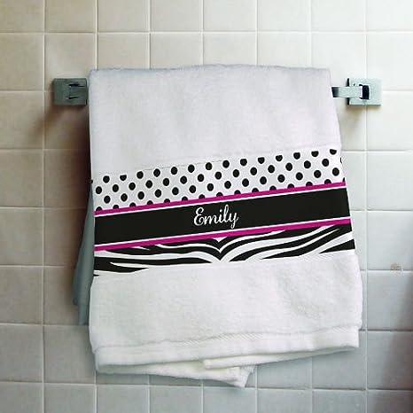 """Personalizado de cebra toalla de baño, 27 """"X 50, 100% algodón"""