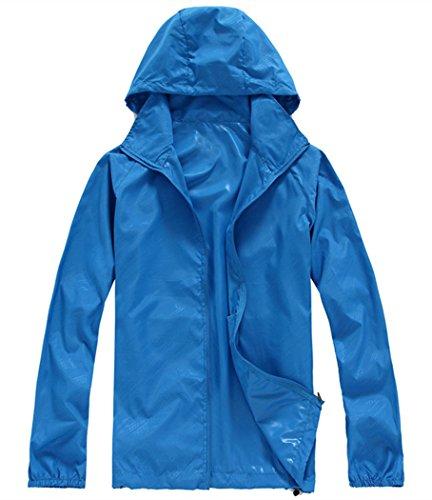 Lanbaosi Women's Super Lightweight UV Protect+Quick Dry Waterproof - Light Blue Jacket