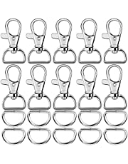 Paxcoo Key Chain Hooks with D Rings for Lanyard and Sewing Projects