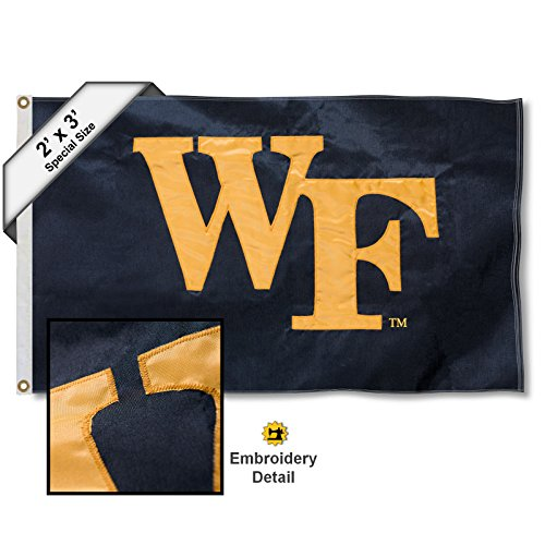 College Flags and Banners Co. Wake Forest Demon Deacons 2x3 Foot Embroidered Flag (Wake Mini Forest)