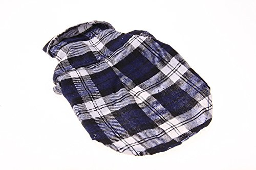 TPYQdirect Dog Jacket Waterproof Coat with Reflective Stripes Windproof Pet Vest Warm Clothes Reversible British Style Plaid Winter Coats Cold Weather Jackets Sweater for Large Dogs, Red L -