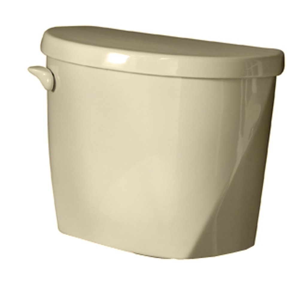 American Standard 4061.016.021 Evolution 2 Right Height Elongated Toilet Tank Only with Coupling Components and Tank Trim, Bone (Tank Only)