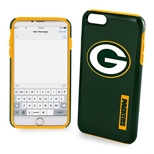 Forever Collectibles - Licensed NFL Cell Phone Case for Apple iPhone 6/6s - Retail Packaging - Green Bay (Green Bay Packers Telephone)
