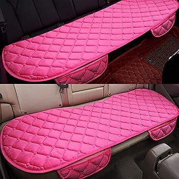 1 Housses de Si/ège Avant et Housses de Si/ège Arri/ère 2 HCMAX Couverture de Si/ège de Voiture Coussin Tampon Tapis Protecteur pour Les Fournitures Automobiles pour Sedan Hatchback SUV