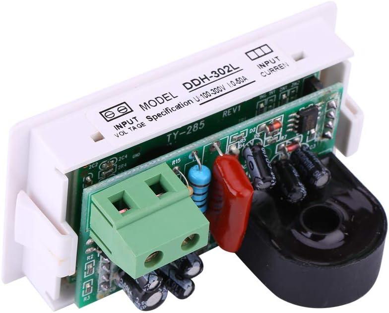AC 50A Digital Power Meter LCD Backlit 110V 220V Transformer Ammeter Voltmeter without Rear Cover Panel