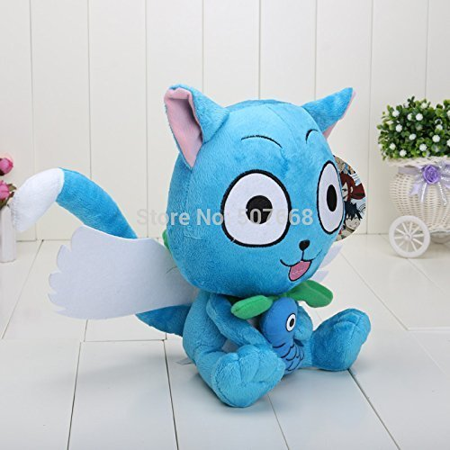 Japanese Anime Cartoon Fairy Tail Happy Plush Toy Plush Doll Figure Toy 12inch 30cm Brithday Gift
