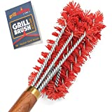 Grillaholics Pro Nylon Grill Brush - Better Than a Bristle Free Grill Brush Nylon Bristle Brushes Clean Between The Grates and are Grills - Lifetime Manufacturer's Warranty