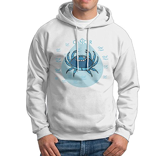 - TQUSIJ Men's Long-Sleeved Sweater Cute Cancer The Crab Zodiac Chicken Fashion Personality Long-Sleeved Sweater