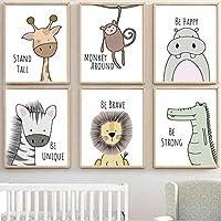 Baby Nursery Decor, Nursery Wall Art, Safari Baby Animals, Baby Room Décor, Playroom Wall Art Canvas Prints, Boys…