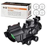 MidTen Tactical Rifle Scope 4×32 Illuminated Reticle Hunting Guns Scope with Mount for 20mm Rail For Sale
