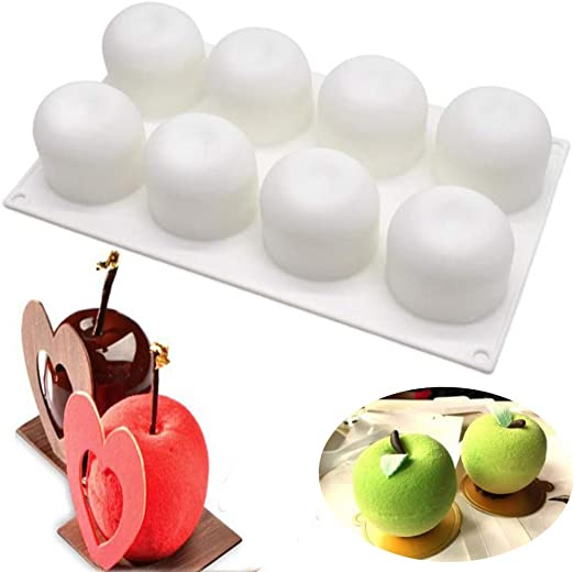 Silicone 8-cell Love Shaped Mousse Cake Molds Baking Tools Pastry Cakes Mould