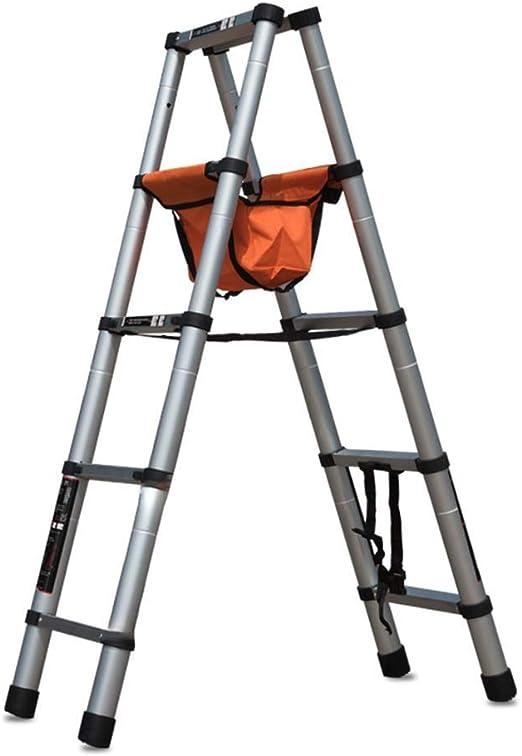 QX Taburete IAIZI De extensión telescópica Escalera Multiusos de Aluminio Plegable portátil Paso General Perfil Extensible con Conveniente Mango Plegable Escalera Multiuso for el hogar: Amazon.es: Hogar