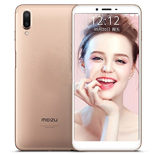 Unlocked Smartphone Meizu Meilan E3 4G LTE Cell phone 6G RAM 64GB ROM Snapdragon 636 Octa Core 5.99'' FHD 2160X1080P Dual Real Camera Fast Charger mTouch Side Fingerprint Android 7.1 (Gold) by Meizu