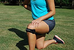 Patella Knee Straps w/ Bonus Resistance Band by No Limits Sports - Knee Support for Patella Tendon - Pain Relief from Patellar Tendonitis, Runners Knee, & Jumpers Knee (2 Knee Straps)