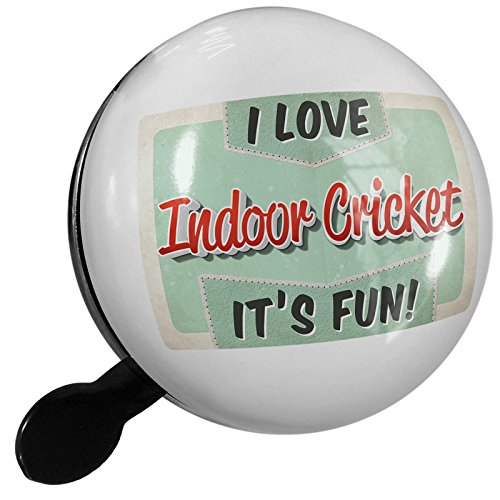 Small Bike Bell I Love Indoor Cricket, Vintage design - NEONBLOND by NEONBLOND