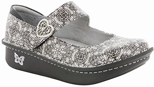 Alegria Paloma Women's Slip On 44 M EU Black-White-Grey by Alegria (Image #1)
