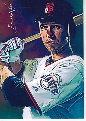 Buster Posey #5 - #4/5 - SUPER RARE! - WORLD SERIES - San Francisco Giants - Limited Edition Original Artwork Sketch Card
