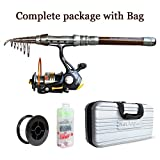 NetAngler Spinning Fishing Combo Telescopic Fishing Rod and Reel Kit – with Line Lures Hooks Accessories and Carrier Bag Case for Saltwater Freshwater For Sale