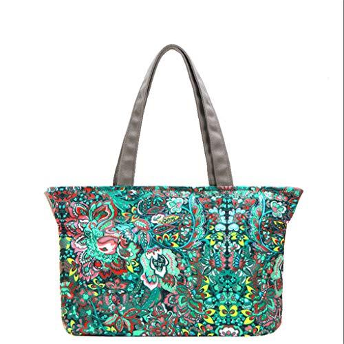 Portatile Tracolla Shopping Protezione Studente Bag G Vintage Modello Colore Di Ambientale A Tela Borsa Zlj zqw0x7CU