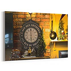 Westlake Art - Clock Tower - 12x18 Canvas Print Wall Art - Canvas Stretched Gallery Wrap Modern Picture Photography Artwork - Ready to Hang 12x18 Inch (E0EF-8417B)