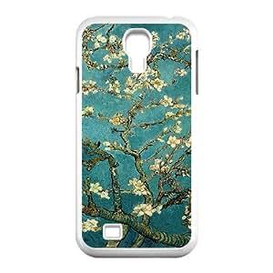 Van Gogh Art Painting Series,Samsung Galaxy S4 Case,Van Gogh Art Almond Tree in Blossom Phone Case For Samsung Galaxy S4[White]