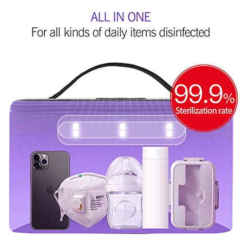 UV Sanitizer Bag Disinfection Bag - USB LED UV Sterilizer Box Cabinet, Kills 99.9% of Harmful Substance, Large Capacity for Baby Bottle/Phone/Toothbrush/Beauty Tools/Underwear Sterilization
