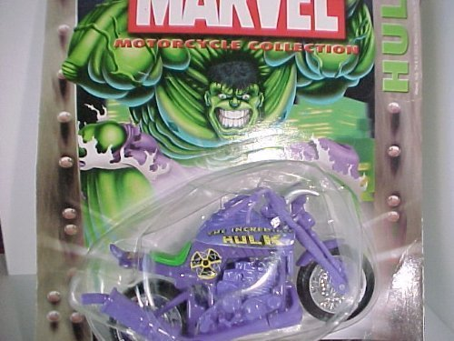 Maisto 2003 Marvel Motorcycle Collection Series 2 - Buff 'N Low Hulk - Purple Motorcycle #526 by (Motorcycle Figurine Collection)