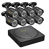 Anlapus 8CH HD-TVI 720P Security Camera System DVR and 8 x 1.0MP 1280TVL Indoor Outdoor Waterproof CCTV Dome Cameras with Motion Detection and Super Night Vision Review