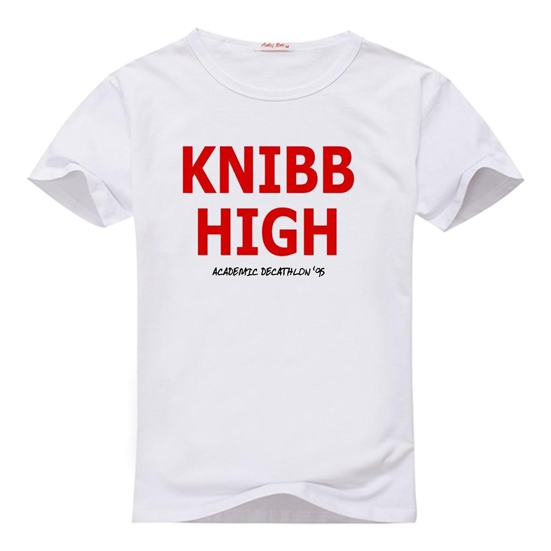 Fancesca Women's Knibb High Graphic Logo Printed Crew Neck Tops XL White