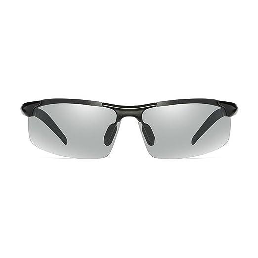 WYYY Sonnenbrillen Schutzbrillen Fahrbrille Männer Halber Rahmen Im Freien Klassisch Polarisiertes Licht Sonnenschutz Anti-UVA UV-Schutz 100% (Farbe : Silver+black) tQoDbb7B