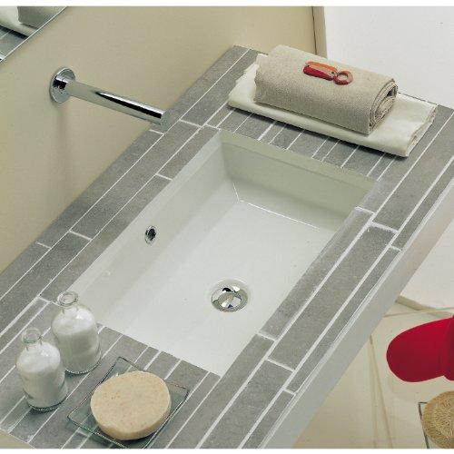 LARGE 22 Inch Rectrangle Undermount Vitreous Ceramic Lavatory Vanity Bathroom Sink Pure White RP595P by KINGSMAN (Image #4)