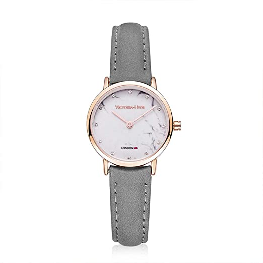 66f44ff80 VICTORIA HYDE Women Marble Small Face Analogue Quartz Watches With Rose  Gold Case Waterproof Genuine Leather