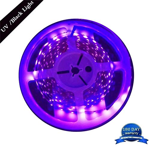 16.4ft Blacklight UV LED Light Strip DC 12V 60leds/m Purple