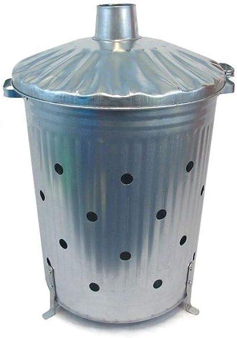 Incinerador de herramientas duradero de 90 litros, quemador rápido con agujeros: Amazon.es: Hogar