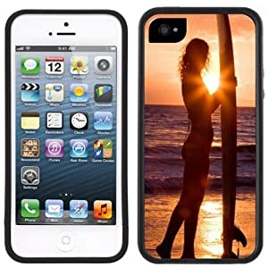 Surfer Girl Surf Surfing Handmade iPhone 5C Black Case