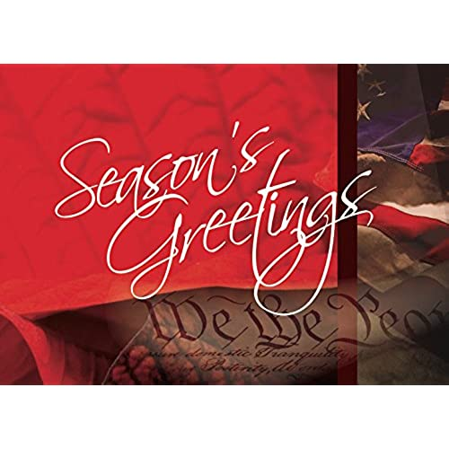 Holiday business greeting cards amazon holiday greeting cards h1025 business greeting card with an image of the flag and constitution and holiday message box set has 25 greeting cards and 26 reheart Images