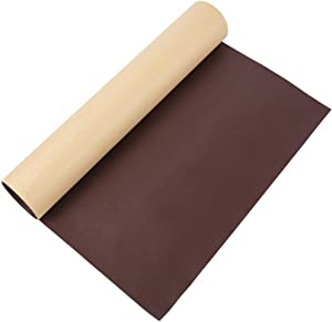 BENECREAT 12x24 Inches Adhesive Leather Repair Patch for Sofa Couch Car Seat Furniture (CoconutBrown, 0.7mm Thick)